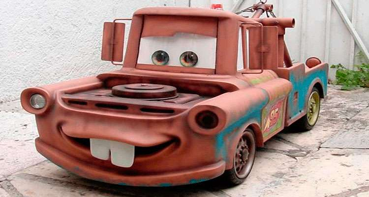 Mate, character of the movie Cars, botrga real size