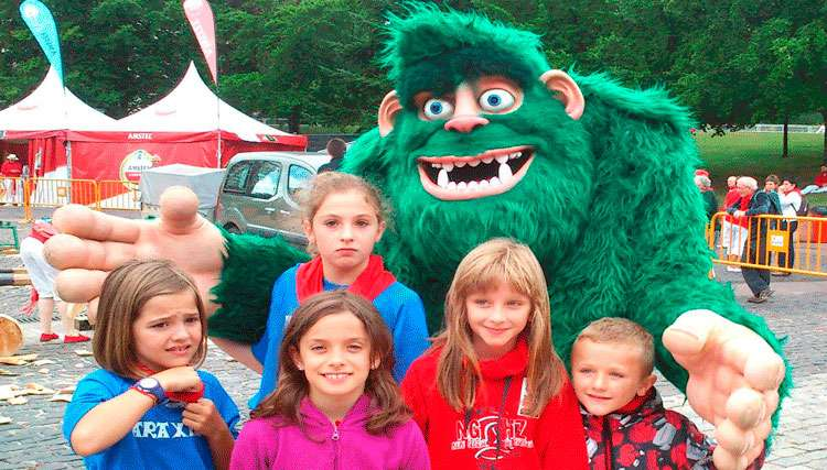 Green Giant Botarga at Children's Sports Event
